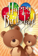 Bear Birthday Card
