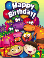Kids Monsters Dinosaurs Small Birthday Card