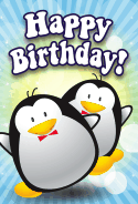 Penguins Birthday Card